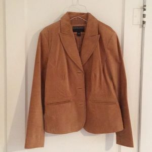 Bernardo Suede Leather Jacket Size M